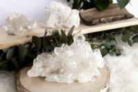 Bergkristall Gruppen, extra Qu., per Kilo