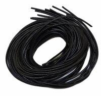 Lederbänder schwarz, 100 cm lang, 10er Pack