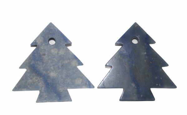 Anhänger Tannenbaum Blauquarz, gebohrt