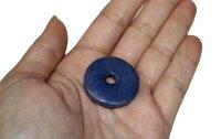 Edelstein Donut Blauquarz, ca. 30 mm